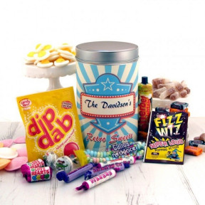 Personalised Retro Sweets Tin Any Name