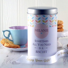 Gift In A Tin - Personalised Keepsake Cookie Tin