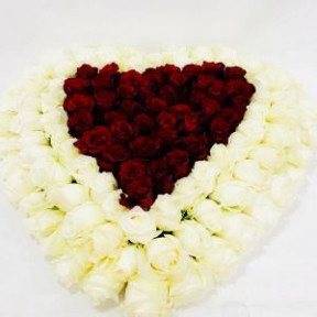 Heart-Shaped Roses Arrangement
