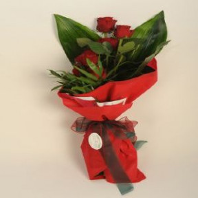 Bouquet With Seven Red Roses