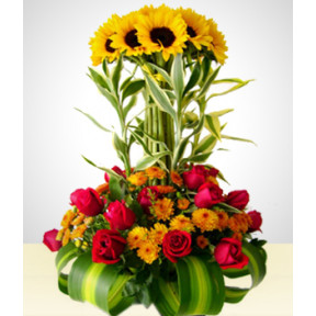 Golden Sunflowers Arrangement