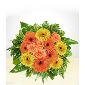 Beautiful: Orange and Yellow Gerberas Bouquet