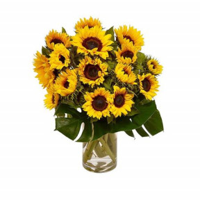 Sunflowers- Sunrise In A Glass Vase (15)