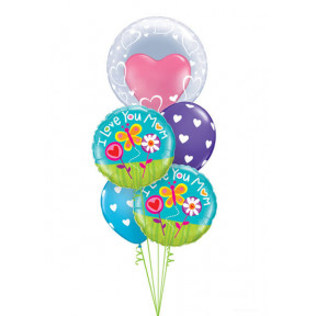 24 Inch-61cm Deco Bubble – Stylish Hearts