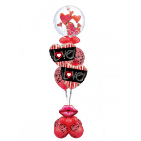24inch - 61cm Lovely Floating Hearts Qualatex