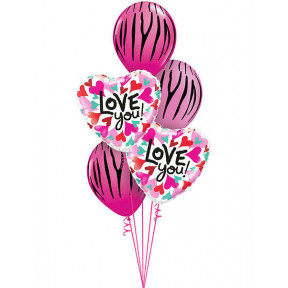18inch - 46cm Love You Converging Hearts Qualatex