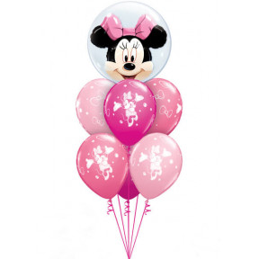 Bouquet 604 Disney Minnie Mouse Pink Bubble Bouquet Qualatex