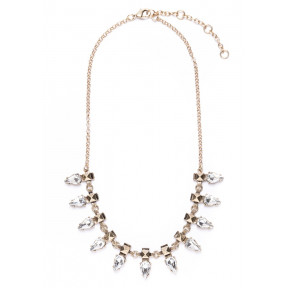 Clear Crystal Vintage Inspired Statement Necklace
