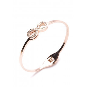 Tied Together Infinity Bracelet Rose Gold