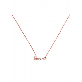 Scripted Love Statement Delicate Necklace In Rose Gold