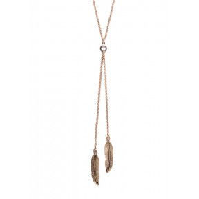 Vintage Feather Y Necklace
