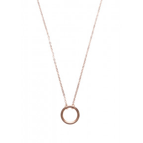 Perfect Circle Necklace Rose Gold