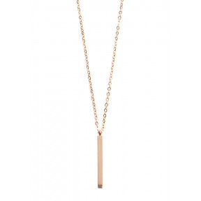 Bar Pendant Necklace Rose Gold