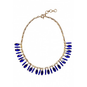 Royal Blue Jewels Statement Necklace