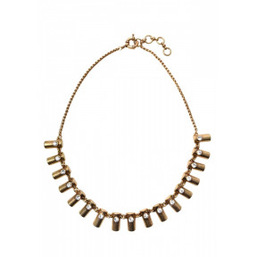 Tiny Golden Bars Statement Necklace