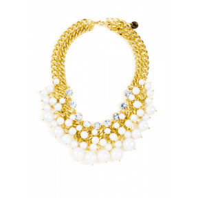Pearl Blossom Statement Necklace