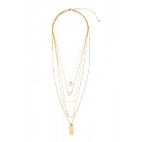 Simple And Elegant Gold Layered Necklace