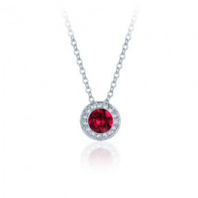 Angelic Pendant Necklace with Ruby Red SwarovskiÂr Crystals