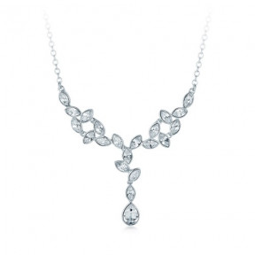 Tranquility Pendant with SwarovskiÂr Crystals Rhodium Plated