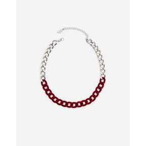 Velvet And Chain Link Necklace