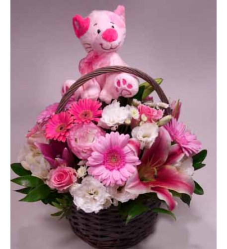 Congratulation! - Welcome Baby flower basket