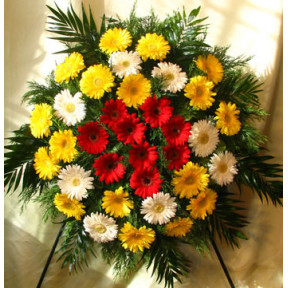 wreath with gerberas (Large)