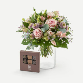 Romantic bouquet with Cho Cho (9 pieces)