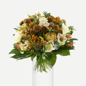 Copper bridal bouquet