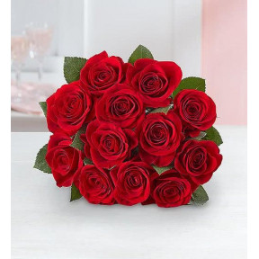Red Roses, 12-24 Stems (12 Stems Bouquet Only )