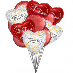 Balloons for loved ones (6-Mylar & 6-Latex Balloons)