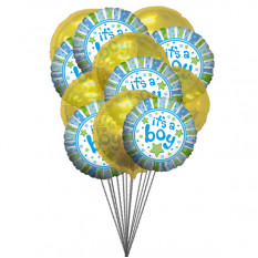 It's a Boy Balloons (6-Mylar & 6-Latex Balloons)