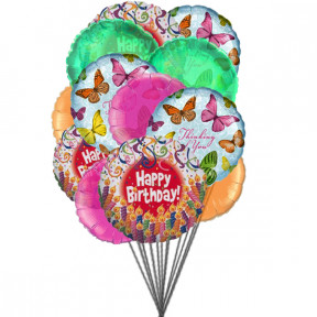 Balloons full of excitement (6-Mylar & 6-Latex Balloons)