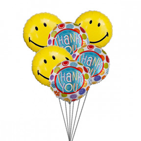 Thank You Balloon Bouquet (6 Latex & 3-Mylar Balloons)