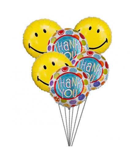 Thank You Balloon Bouquet (6-Mylar & 6-Latex Balloons)