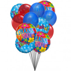 "Bunch of ""THANK YOU"" balloons (6-Mylar & 6-Latex Balloons)"