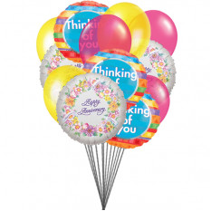Thinking on Anniversary balloons (6-Mylar & 6 Latex Balloons)
