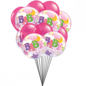 Pinkk for Girls (6 Mylar & 6 Latex Balloons)