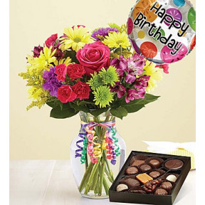 It's Your Day Bouquet Happy Birthday (Small with Chocolate)