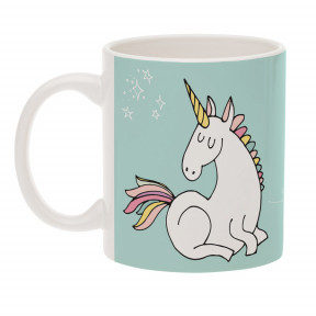 Unicorn mug with text