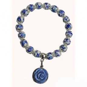 Bracelet Delft blue with charm AMB 02