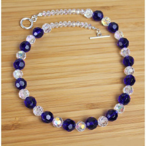Necklace Crystal and Cobalt