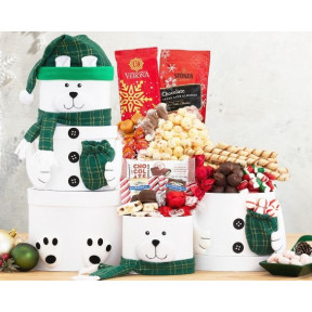 Snowman Chocolate Tower