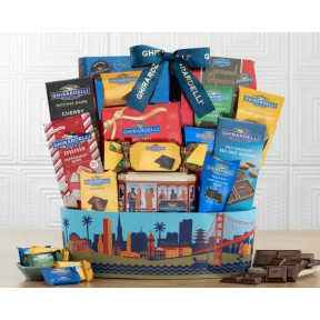Deluxe Ghirardelli Chocolate Gift Baskets
