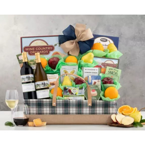 Edenbrook Vineyards Wine and Fruit Gift Basket
