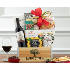 Barrel Hoops Cabernet Italian Wine Basket