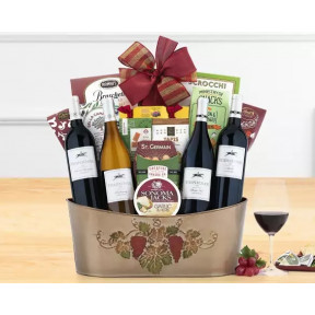 Cliffside Vineyards Quartet Wine Basket