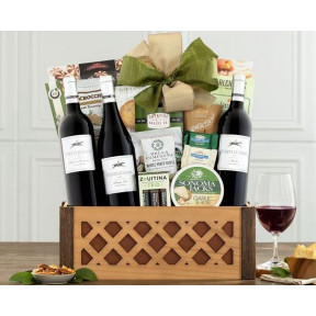 Barrel Hoops Red Wine Trio Gift Basket