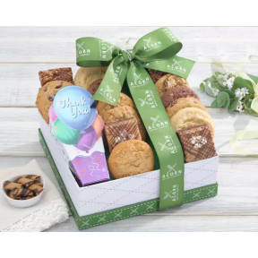 Thank You Cookies And Brownies Gift Basket
