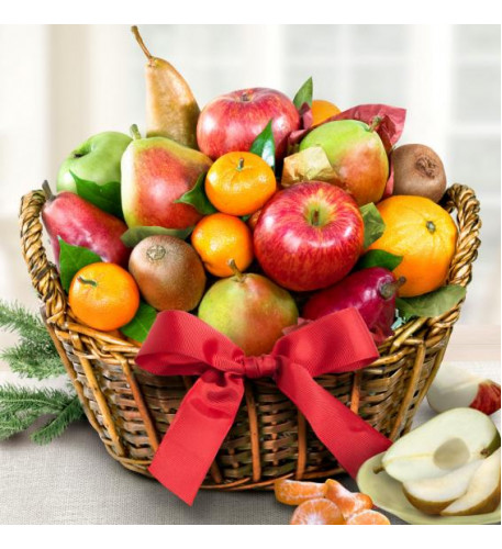 Harvest Gold Fruit Basket