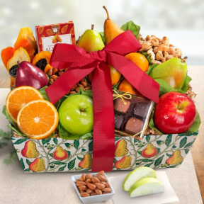 Orchard Delight Fruit And Gourmet Basket
